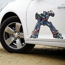 2PCS Transformers Bumblebee Autobots Optimus Prime side door Car Stickers Decals