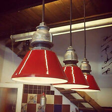 Retro Style Metal Lampshade Retro Industrial Ceiling Pendant Light Fitting Red