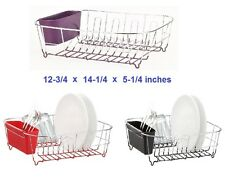 Small Dish Drainer Sink Drying Rack Tray Cutlery Plate Holder Organizer Basket
