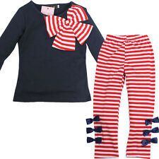 Kids Outfit Set Long Sleeve Shirt + Legging Girls Clothes Size 4 5 6 FBE-FT40
