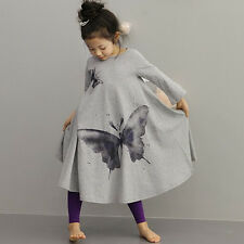 Girl Kids Children Baby Skirt Bohemian Butterfly Dress Clothes Dancewear FT1658