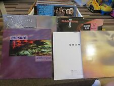 5X RECORD LOT - 80'S ELECTRONIC - NEW ORDER, ERASURE, DEAD/ALIVE, EDELWEISS...