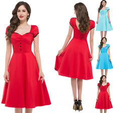 50s Vintage Hepburn Style Prom Party Swing Jive Evening Dress Bridesmaid Dresses