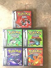 Game Boy Adv. Cust. Game Cases Pokemon Leaf Green-Fire Red-Emerald-Sapphire-Ruby