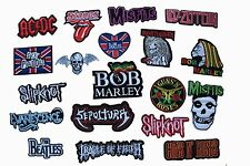 PUNK ROCK BAND MUSIC,SONG NAME LOGO EMBROIDERY APPLIQUE PATCH