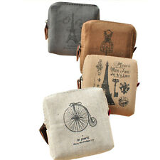 Creative Coin Purses Square Canvas Change Purses with Zipper Fashion Coin Wallet