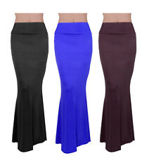 Women Casual Summer Slim Sexy Stretch Solid Long Maxi Tight Fishtail Skirt