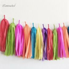50pc Paper Tassels DIY Tissue Bunting Wedding Birthday Garland Party Decor Props