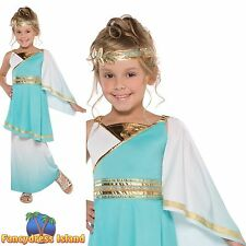 CHILDS GRECIAN GODDESS ATHENA ROMAN PRINCESS age 10-14 girls fancy dress costume