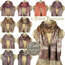 WOMENS LADIES PAISLEY JACQUARD PASHMINA FASHION SCARF SCARVES SHAWL WRAP