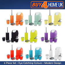 6 piece Bathroom Accessory Set Soap Dish Dispenser Bin Tumbler Toothbrush Holder