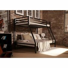 Twin over Twin Bunk Beds Metal Kids Teens Boys Girls Dorm Bedroom Dorm Home NEW