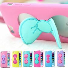 3D Cute Lovely Butterfly Bow Case Cover Stand Holder For iPhone 5 5S 6/6 + Plus