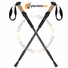New Pair 2 Trekking Hiking Walking Sticks Poles Alpenstock Adjustable Anti Shock
