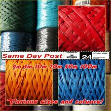 RAFFIA PAPER RIBBON 7mm Crafts Packing Gifts Wrapping Scrapbooks MANY SIZES!