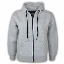 Kids Girls & Boys Unisex Plain Fleece Hoodie Zip Up Style Zipper Age 7-13 Years