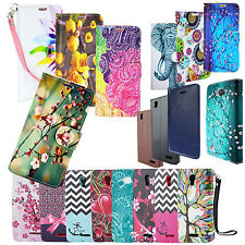 For Samsung Galaxy Note 2 Phone Flip Wallet Case Cover Credit Card Folio Design