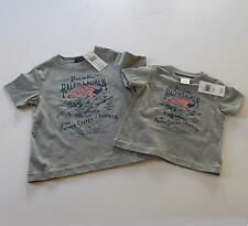 New POLO Ralph Lauren Baby Toddler BOYS Eagle USA Flag T-Shirt GRAY 9 Months - 7