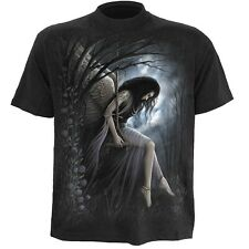 Spiral Angel Lament T-Shirt Black [Special Order] - Gothic,Goth,Angel Wings Rose