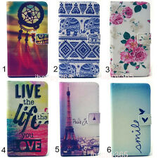 New Flip PU Leather Wallet Stand Case Cover For iPhone/Samsung/Wiko/Nokia Phone
