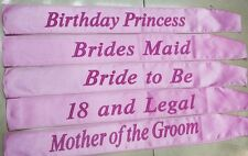 Pink Hen Party Sashes Girls Ladies Night Party Accessory Wedding Sash Funny