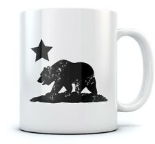 California Republic Bear Coffee Mug - Cali Life Cool Tea Cup Novelty Ceramic Mug
