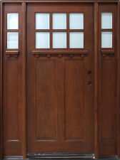 Solid Mahogany Craftsman Front Unit Pre-hung & Finished TMH7216-5-DCB, 5/0X6/8