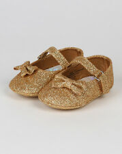 aadi aadi37 New Baby Girl Glitter Round Toe Bow Decor Mary Jane Ballerina Flat