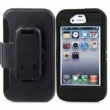 Heavy Duty Defender Protective Case w/Clip & Screen Protector For iphone 4/4S