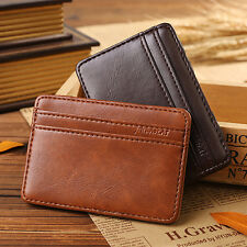 Magic Wallet Slim Money Clip Credit Card Leather Holder ID Business Mens Gift