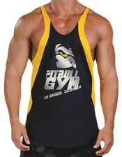 "PITBULL GYM®  ""Made In LA"" weightlifting workout TANK TOP 1"" strap MADE IN  USA"