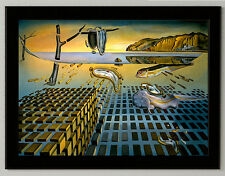 Salvador Dali poster Disintegration canvas print framed, giclee 6.8X8.8&10X13,6