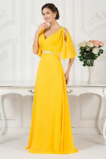 Sexy V Neck Fomral Long Mother Of The Bride Dress Bridesmaid Evening Prom Dress