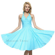 Maggie Tang 50s Pinup VTG Retro Rockabilly Party Cocktail Satin Swing Dress K501