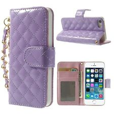 Cell Phone Case for iPhone 5, 5s, Leather Card Slot, Strap, stand, pocket cash