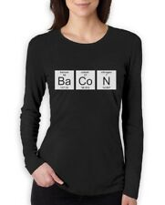 Bacon Chemistry Funny Periodic Table Women Long Sleeve T-Shirt
