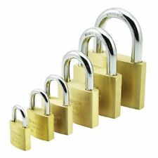 1 X Brass Padlock Shackle Mailbox Door Cabinet Luggage Drawer New With Key Steel