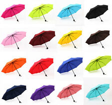 Candy color parasol 3Folding Sun/Rain Umbrella fashion womens rain umbrella