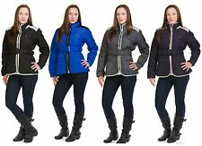 Ladies Girls Slim Fit Padded Jackets Lined Belted Full Sleeve Casual Wear Coats
