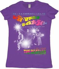 Juniors Purple The Beatles Band Lady Madonna Inner Light Cotton T-shirt Tee