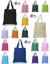 Pack of 12 100% Eco Friendly Wholesale Cotton Canvas Tote bags, Grocery bags