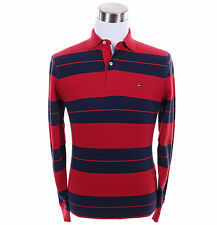 Tommy Hilfiger Men Long Sleeve Classic Fit Stripe Pique Rugby Polo Shirt $0 Ship