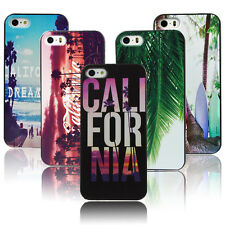 Beauty Sunset California Beach Tropical Palm Trees Hard Case For iPhone  SE 5S 6