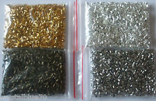 1000 pcs Crimp Beads Tube Seamless  Silver / Gold / Bronze Plated 1.5mm, 2mm