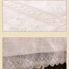 Elegant Floral Lace Tablecloths Cover for Hotel Wedding Party Kitchen White
