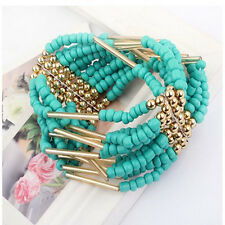 Charming Fashion Bohemian Bangle Beaded  Bracelet  Multilayer Womens Jewelry Hot