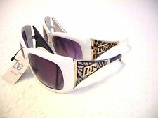 WOMEN'S DG LARGE SUNGLASSES W/ ZEBRA OR LEOPARD PRINT  ~UV400 ~ ONE OF A KIND