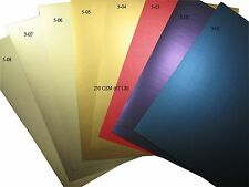 Letter Size Shimmer Metallic Paper Cards 250 GSM- choose Colour and Quantity