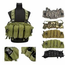 Tactical Vest Military Army Paintball Airsoft Combat Assault Chest Rig Webbing