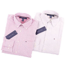 Tommy Hilfiger Men Long Sleeve Classic Fit Button Down Stripe Shirt - $0 Ship